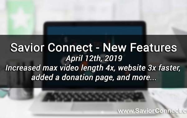 April 12th, 2019 - New Features
