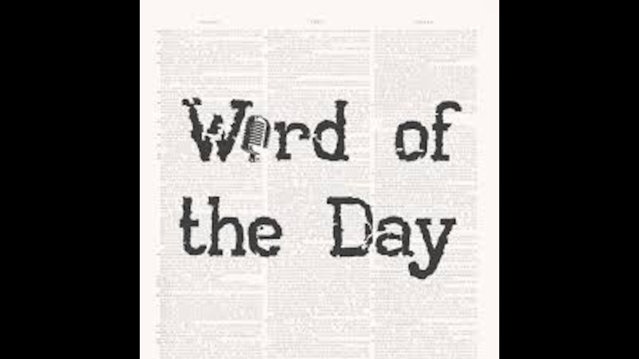 Word Of The Day 11.24.20